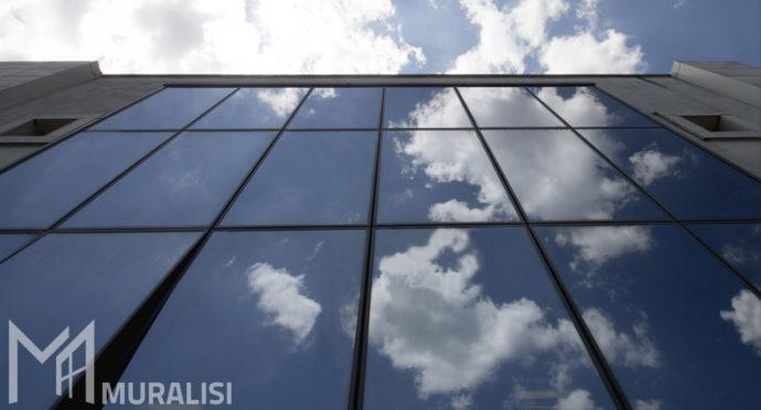 Facciata continua con profili in alluminio_Banca di credito cooperativo - Muralisi