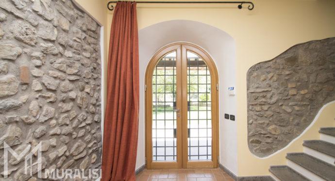 Finestra ad arco in legno alluminio - Muralisi